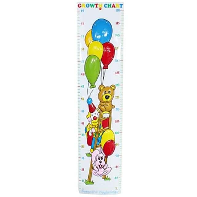 Miarka wzrostu plastikowa z balonami