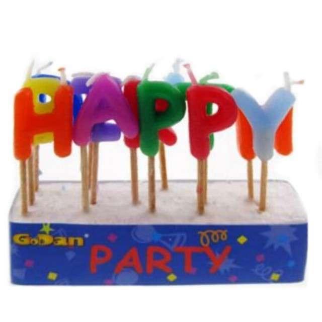 """Świeczki na tort """"Happy Birthday"""", GODAN, 13 szt"""