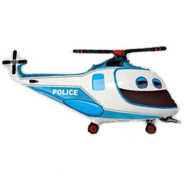 """Balon foliowy """"Helikopter Policyjny"""", FLEXMETAL, 14"""" SHP"""
