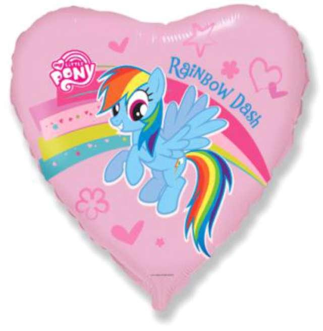 """Balon foliowy 18"""" Pony z tęczą"""