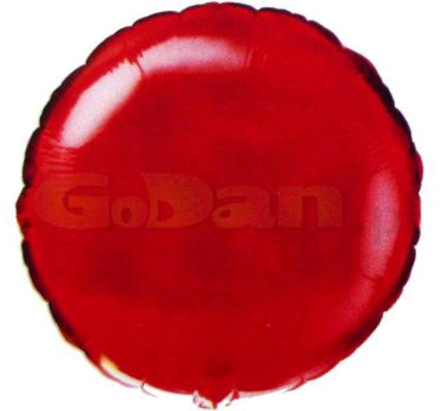 """Balon foliowy """"Okrągły"""", czerwony, FLEXMETAL, 18"""" RND"""
