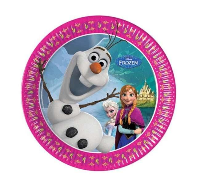 """Talerzyki papierowe """"Frozen"""" 20 cm, 8 szt"""