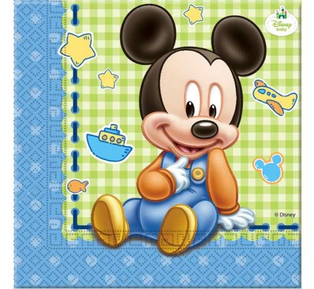 """Serwetki 33 cm, """"Mickey Baby"""", 20 szt"""