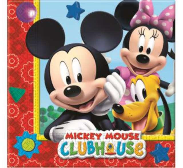 """Serwetki 33 cm, """"Mickey Mouse"""" Clubhouse, 20 szt"""