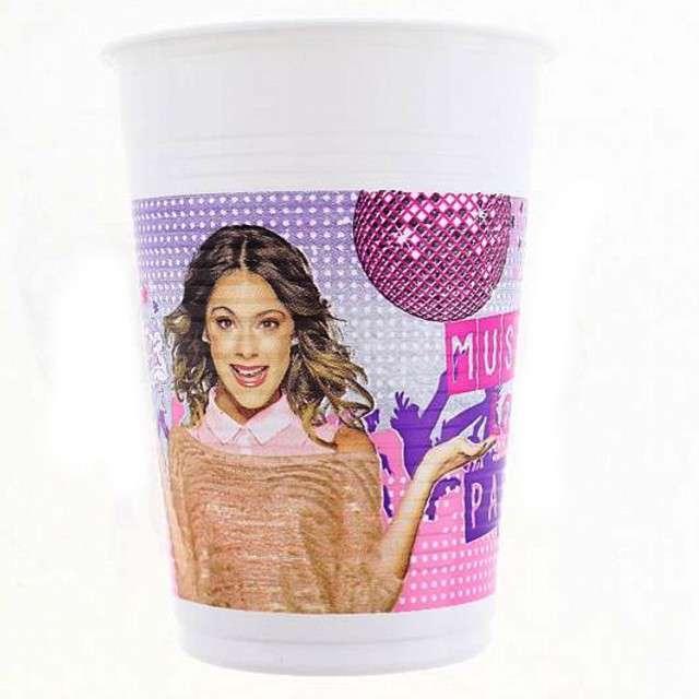 """Kubeczki plastikowe 200 ml, """"Violetta"""", 8 szt"""