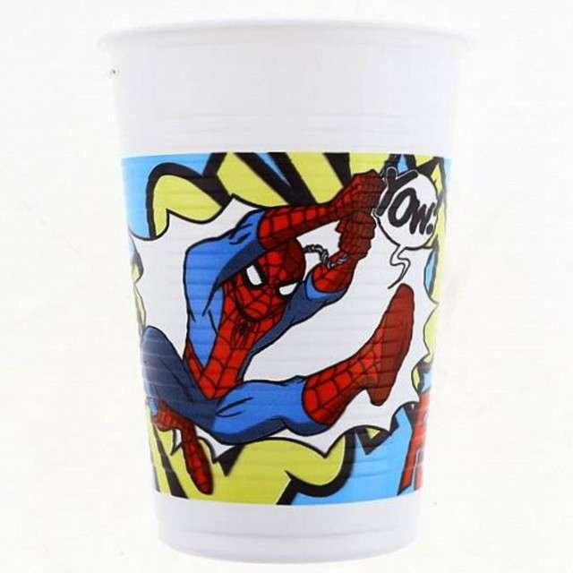 """Kubeczki plastikowe 200 ml, """"Spiderman"""", 8 szt"""