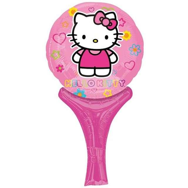 """Balon foliowy 14"""" z rączką Hello Kitty"""
