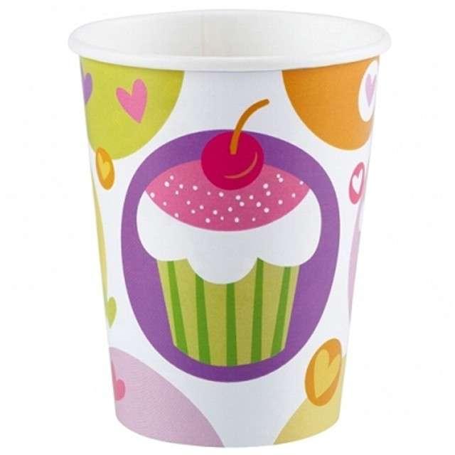 """Kubeczki papierowe 266 ml, """"Cupcake"""", 8 szt"""