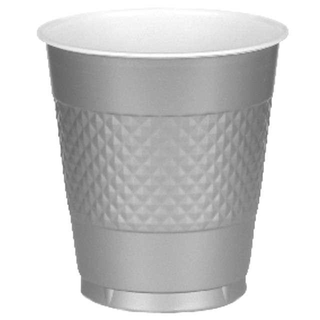 "Kubeczki plastikowe ""Diamond"", srebrne, 355 ml, 10 szt"