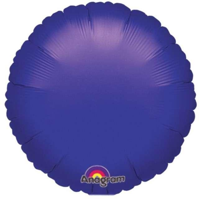 """Balon foliowy 18"""" Purpurowy okrągły"""