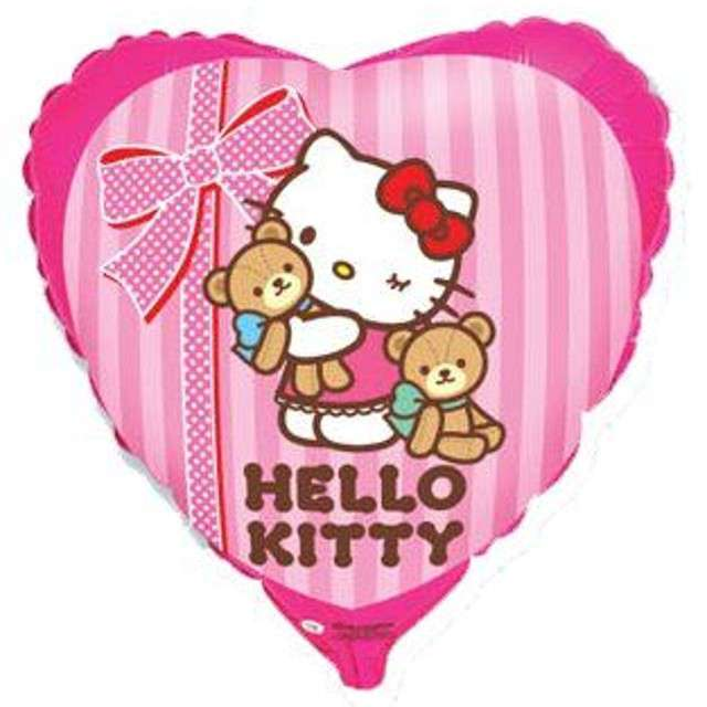 "Balon foliowy 18"" Hello Kitty z misiami, 1 szt."