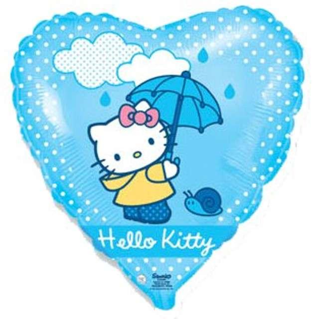 """Balon foliowy 18"""" Hello Kitty z parasolką"""