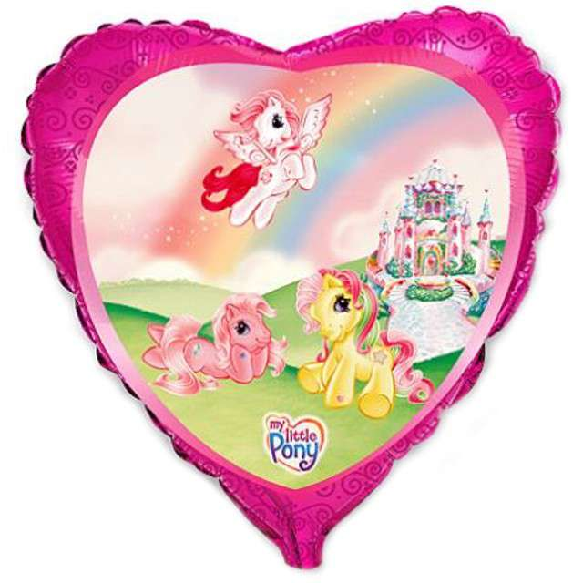 "Balon foliowy ""My Little Pony Castle"", FLEXMETAL, 18"" HRT"