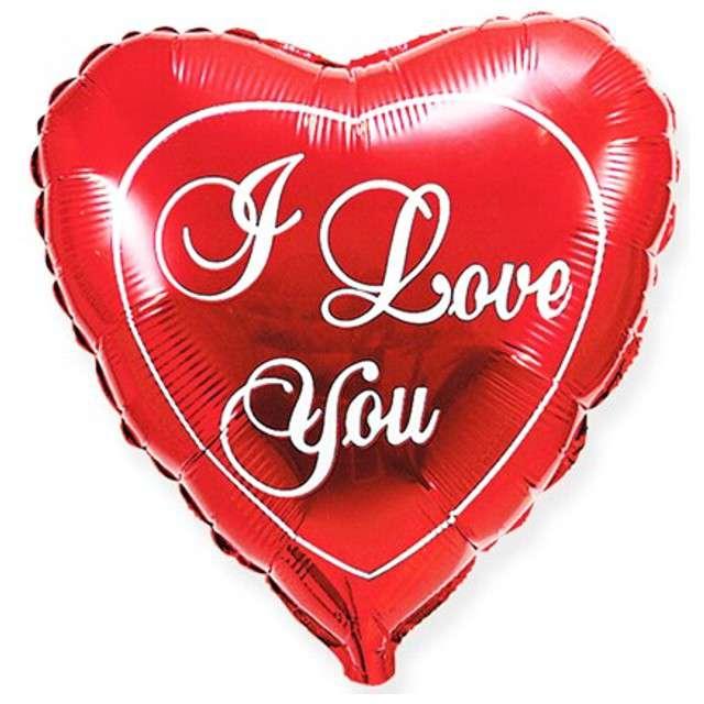 "Balon foliowy 18"" I Love You - red"