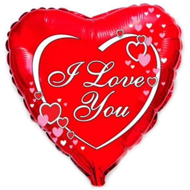 """Balon foliowy 18"""" I love you czerwony"""