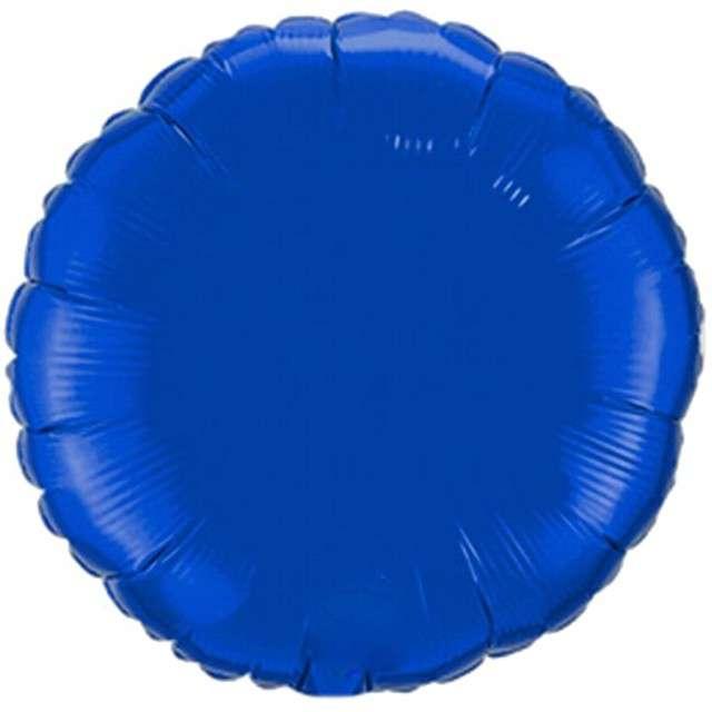 """Balon foliowy """"Okrągły"""", niebieski, FLEXMETAL, 18"""" RND"""