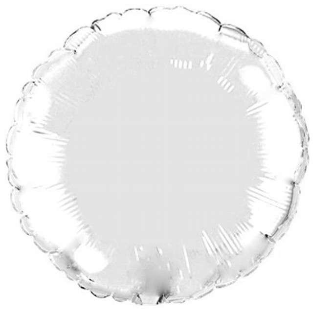 "Balon foliowy ""Okrągły"", srebrny, FLEXMETAL, 18"" RND"