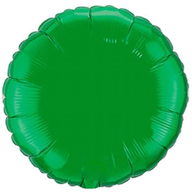 """Balon foliowy """"Okrągły"""", zielony, AMSCAN, 18"""" RND"""