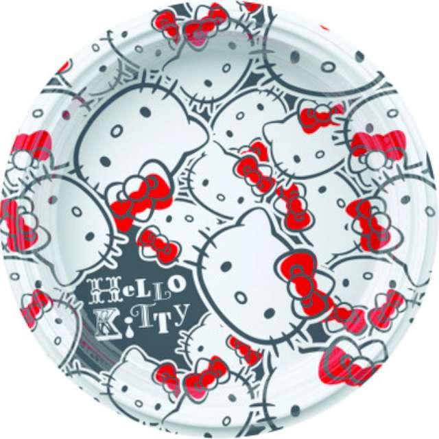 """Talerzyki plastikowe """"Hello Kitty Fun"""", 18 cm, 8 szt"""