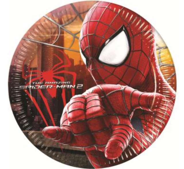 """Talerzyki papierowe """"Spiderman 2"""" 20 cm, 8 szt"""