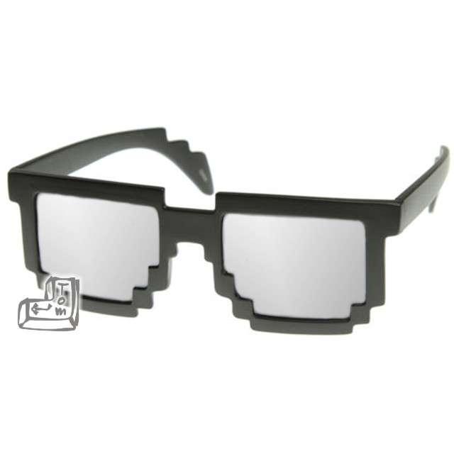 """Okulary party """"8 bit pixel"""", czarne/lustrzanki"""