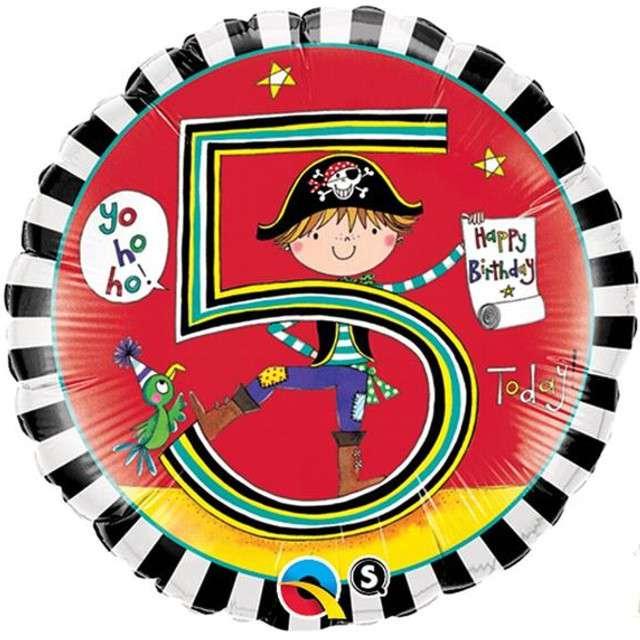Balon foliowy 5 urodziny dla chłopca