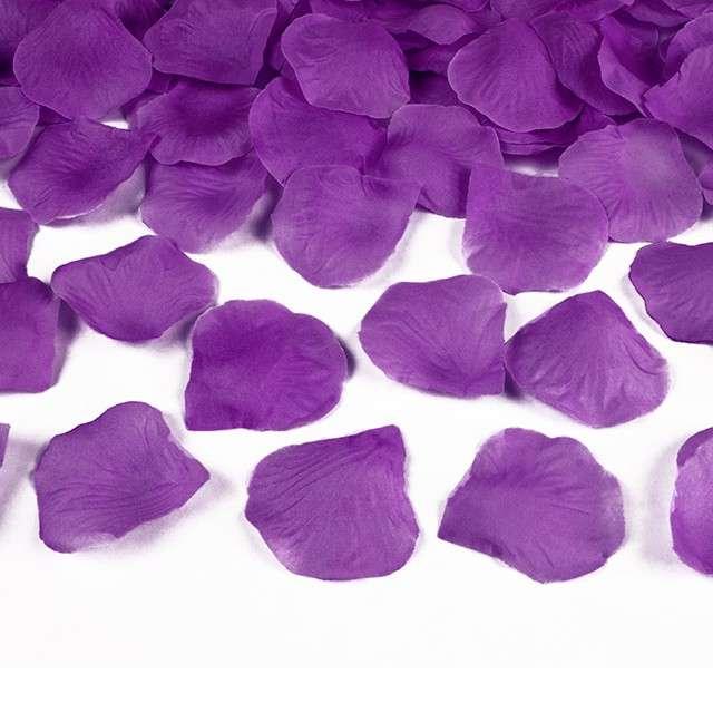Płatki róż w woreczku, śliwkowe, 100 szt