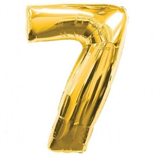 """Balon foliowy cyfra 7, 34"""", złoty"""