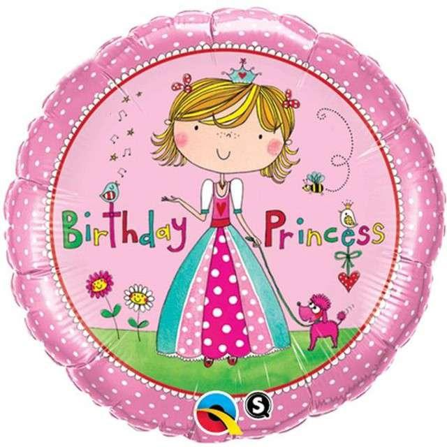 "Balon foliowy 18"" Hsppy Birthday Princess"