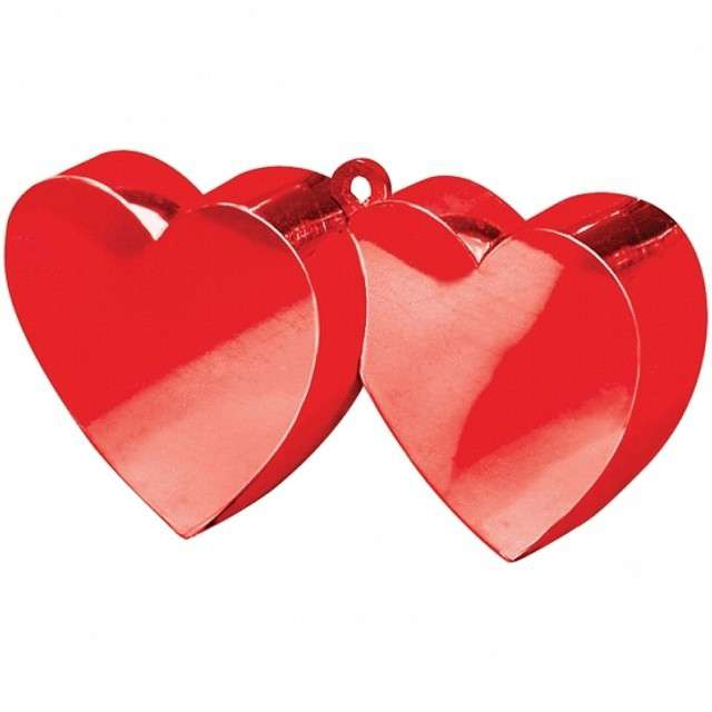 Obciążnik do balonów, Dwa serca, czerwone