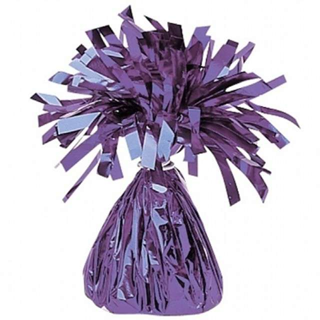 Obciążnik do balonów, foliowy, fioletowy, AMSCAN