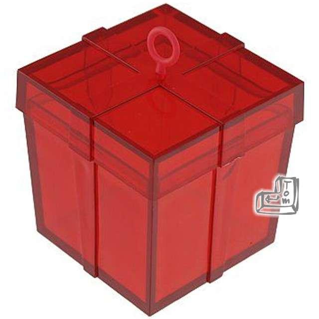 Obciążnik do balonów, pudełeczko, czerwone