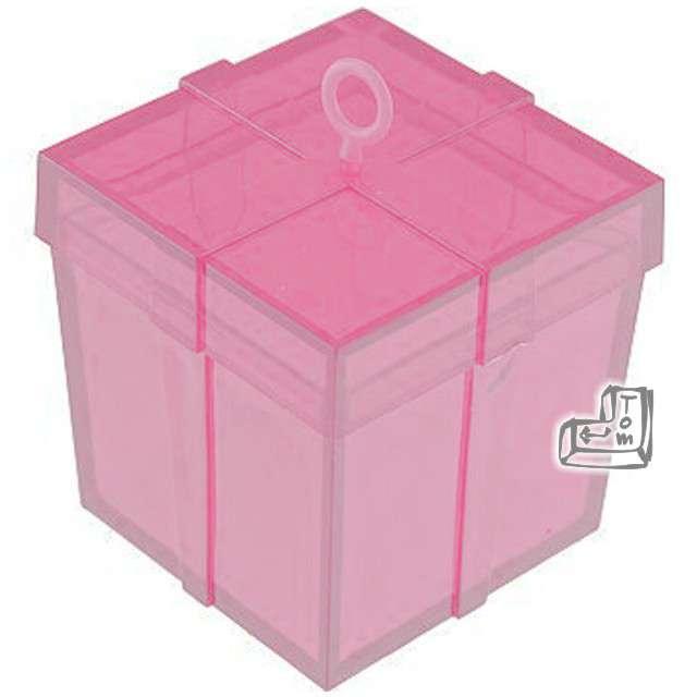 Obciążnik do balonów, pudełeczko, różowe
