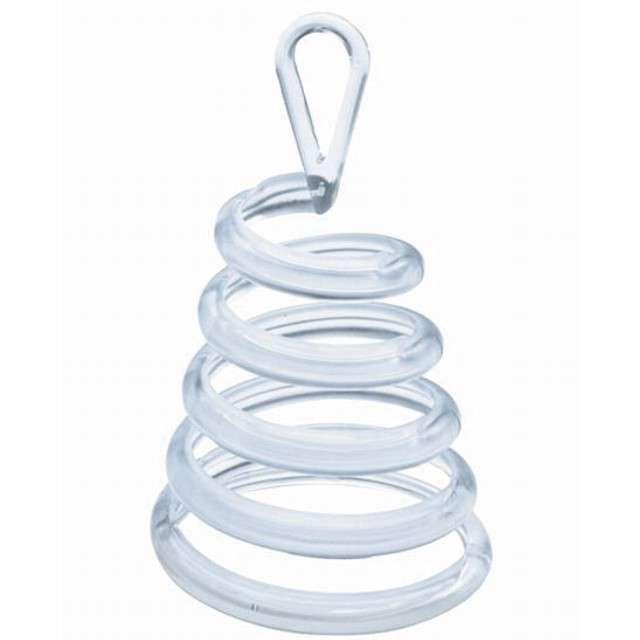 Obciążnik do balonów, sprężyna, transparentny