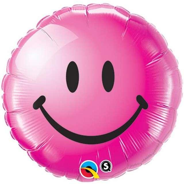 """Balon foliowy 18"""" Uśmiech, żurawinowy"""
