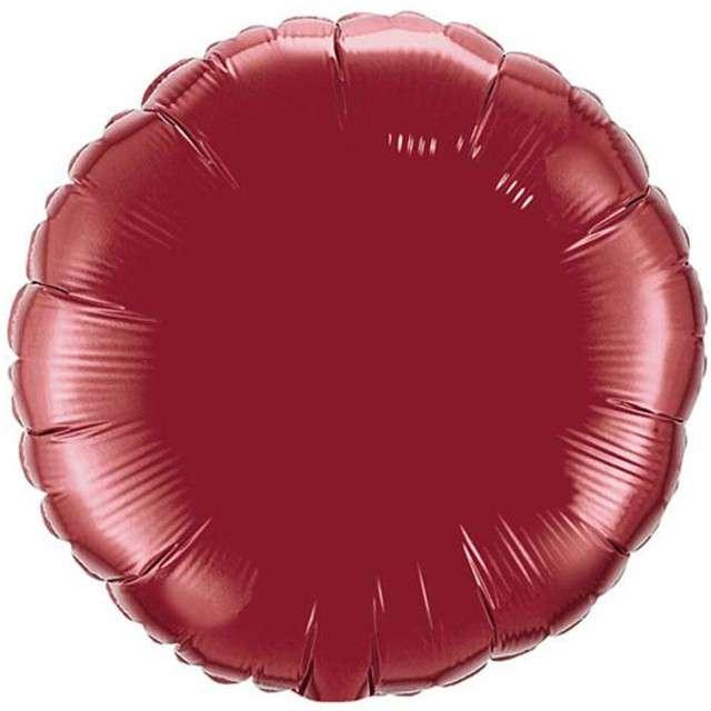 """Balon foliowy 18"""" Okrągły - bordowy"""