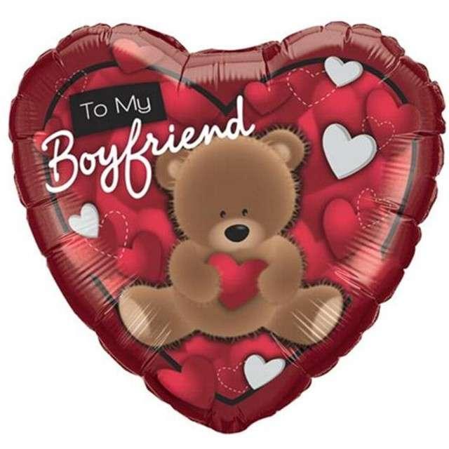 """Balon foliowy 18"""" To My Boyfriend z misiem"""