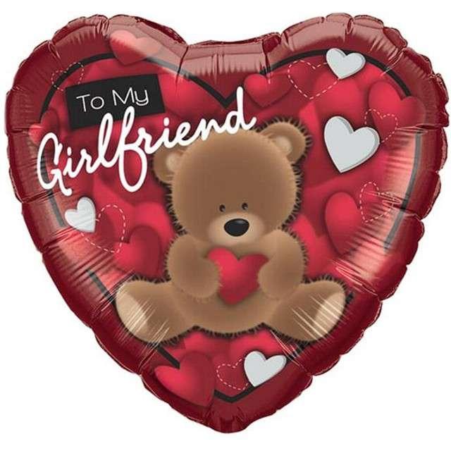 """Balon foliowy 18"""" To My Girlfriend z misiem"""