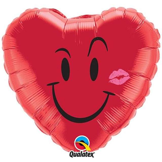"""Balon foliowy 18"""" -  """"Uśmiech, czerwony"""""""