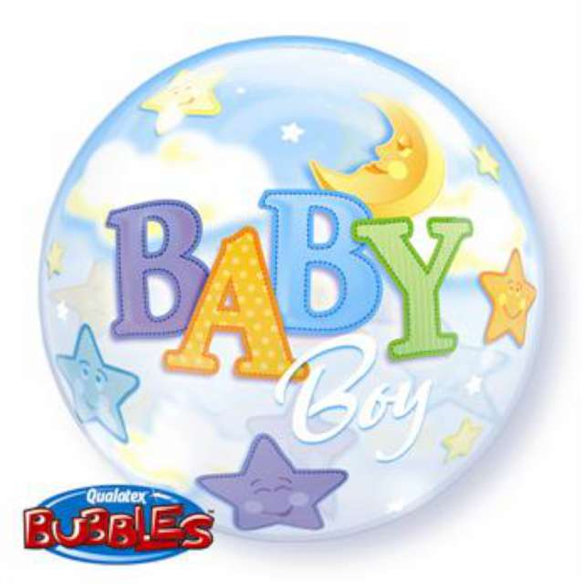 """Balon foliowy 22"""" - """"Baby Boy - Księżyc"""""""