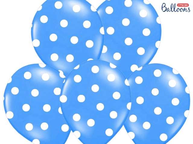 "Balony 14"", ""Kropki"" Pastel Cornflower Blue, STRONG, 50 szt"