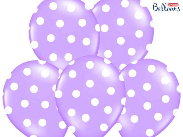"Balony 14"", ""Kropki"" Pastel Lavender Blue, STRONG, 50 szt"