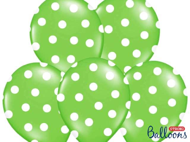 "Balony 14"", ""Kropki"" Pastel Lime Green, STRONG, 50 szt"