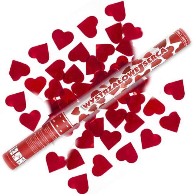 Tuba strzelająca, serca czerwone, 60 cm