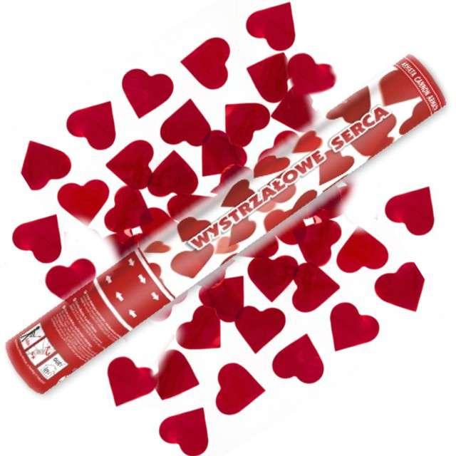 Tuba strzelająca, serca czerwone, 40 cm