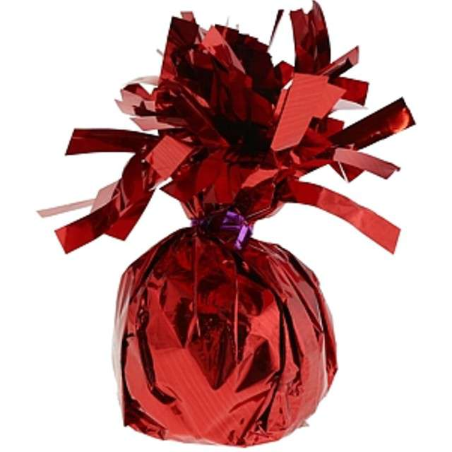 Obciążnik do balonów, foliowy, czerwony