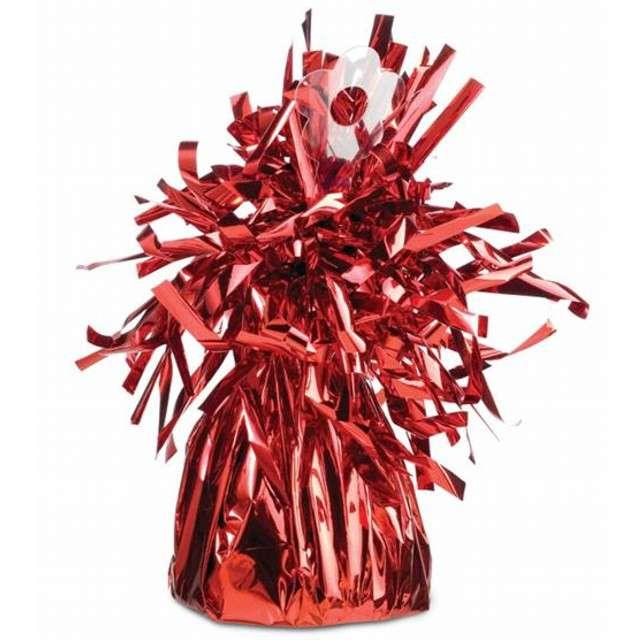 Obciążnik do balonów, foliowy, czerwony, QUALATEX