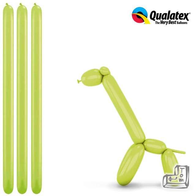 Balony modeliny QUALATEX 260 zielone jasne, 100 szt