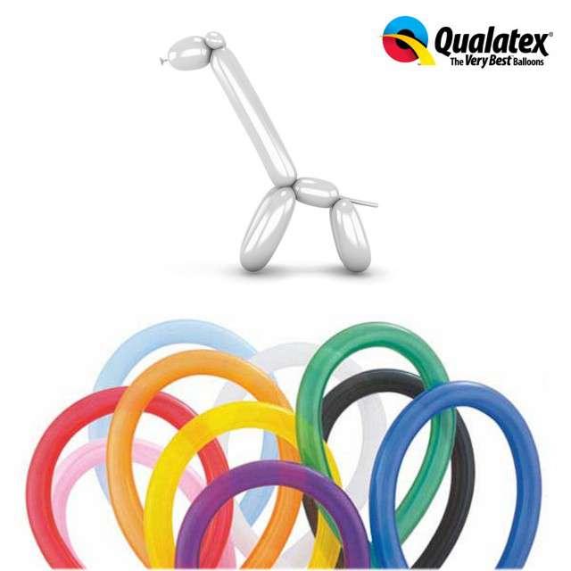 Balony modeliny QUALATEX 260 mix traditional, 100 szt