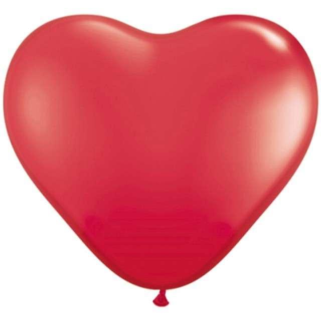 """Balony 16"""", serca, GLOBOS, pastel czerwone, 100 szt"""